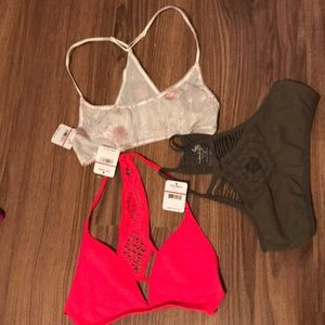 NWT FreePeople Lot of 3 XS /S Bralettes